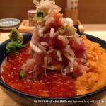つじ半(日本橋/海鮮丼)でぜいたく丼の梅と特上を食べる