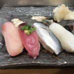 寿司寛(築地)で1,000円江戸前寿司ランチを食べる
